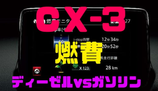 【マツダ・CX-3】燃費は実際どう?ディーゼル・ガソリン比較!
